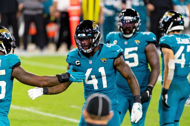 Jaguars defensive end Josh Allen missed his first two games as a college or pro player earlier this season.