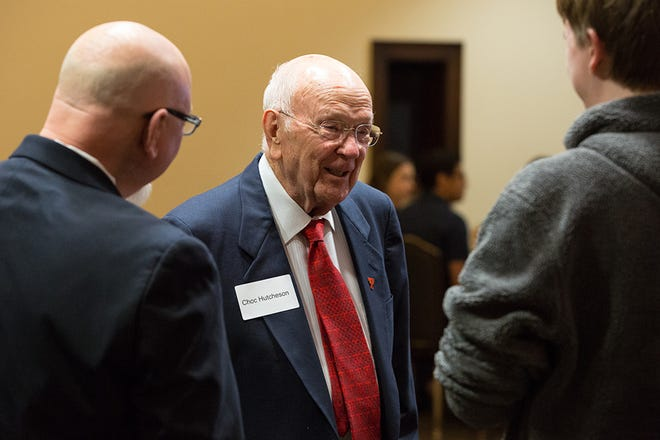 Choc Hutcheson, a generous donor and long-time friend of Texas Tech's College of Media & Communication during a 2019 Scholarship Ceremony & Luncheon.