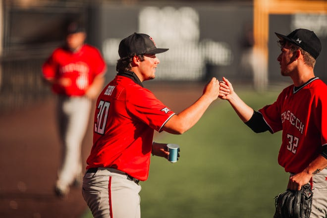 Nick Gorby (30) and Levi Wells (32) are two of the highest-rated freshman pitchers in a Texas Tech signing class that is full of promising arms.