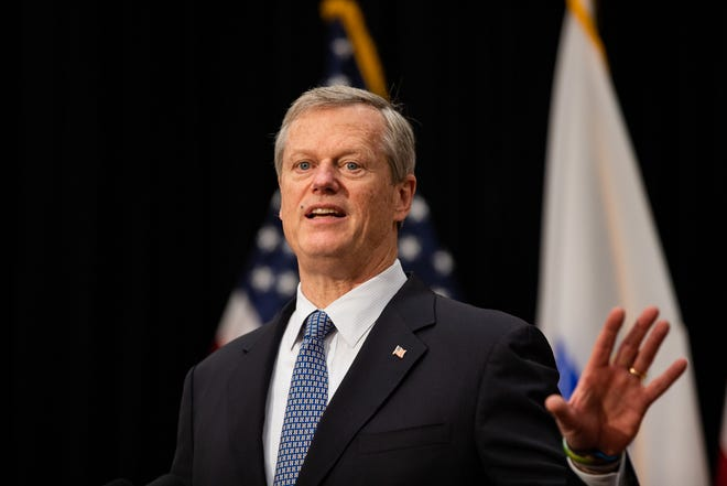 Gov. Charlie Baker joined five other Northeast governors in declaring support for in-person learning in schools.