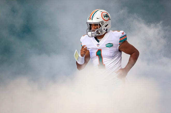 The Dolphins have a bright future with rookie quarterback Tua Tagovailoa as the foundation.  (ALLEN EYESTONE / THE PALM BEACH POST)