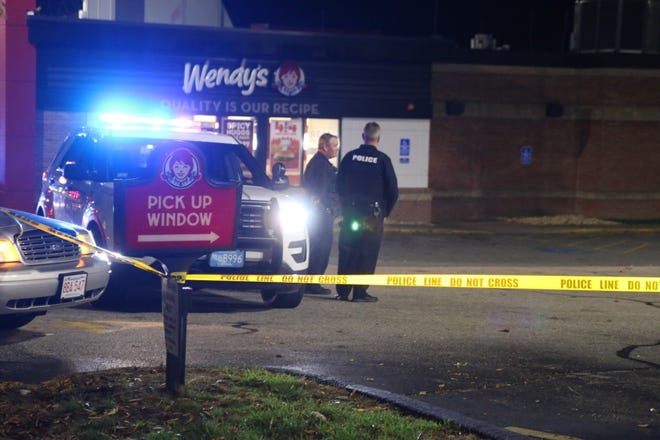 Worcester police investigate a shooting Oct. 24 in the parking lot of a Wendy's restaurant at 500 Park Ave.