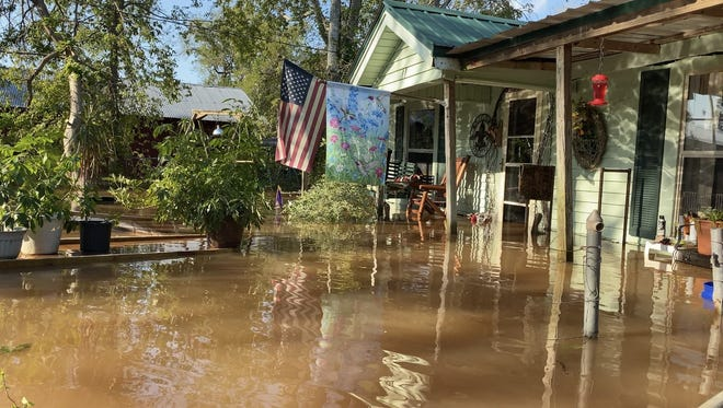 Flood waters from Hurricane Delta swamp the home of Town Talk reporter Melissa Gregory and her family, six weeks after Hurricane Laura caused extensive damage to it. Yet between the storms, the COVID-19 pandemic and other calamities of 2020, there still are things for which to be thankful.