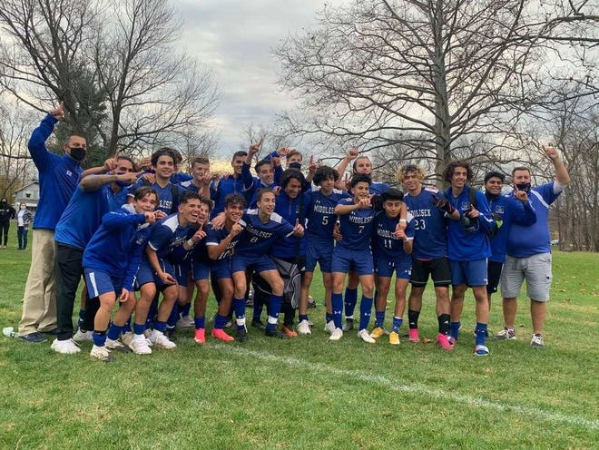 The Middlesex boys soccer team won the Central East A Group I title with a 7-1 win over Brearley on Saturday, Nov. 21, 2020.