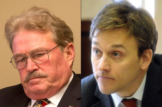Norman Shinkle and Aaron Van Langevelde, the two Republican members of the Michigan state Board of Canvassers.