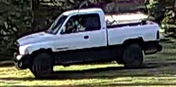 A white Dodge Ram police say was used in a Monroe County break-in and theft of $10,000 in jewelry