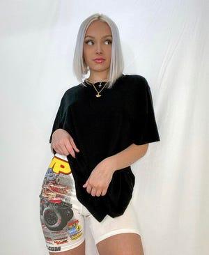 Paige Sechrist, the designer behind REMYGIRL reworks.