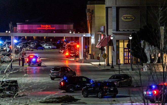 Emergency responders remain on-site at Mayfair mall in Wauwatosa after eight people were shot inside the mall on Friday afternoon, Nov. 20, 2020.
