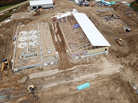 An aerial photo showed construction in 2019 at the Kettle Moraine Springs State Fish Hatchery near Adell. The renovation is being funded with $26.6 million from the Knowles-Nelson Stewardship Program.