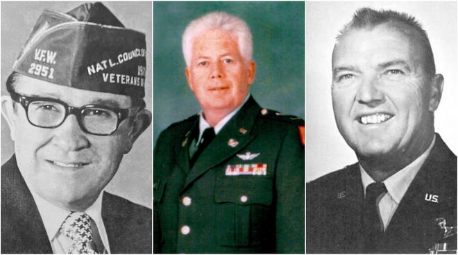1st Sgt. Manuel Armijo, left; Chief Warrant Officer 5 Richard J. Quigley; and Col. Robert L. Sands.