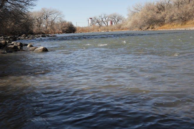 The Animas River flows, Saturday, Nov. 21, 2020, through Animas Park in Farmington.