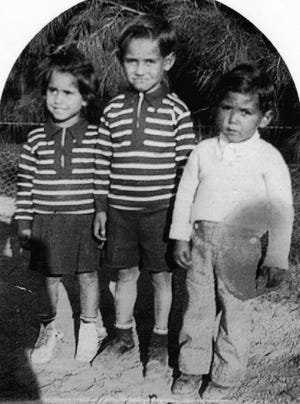 From left to right: Vera, Ben and Eugene Prieto are seen in this undated photo.