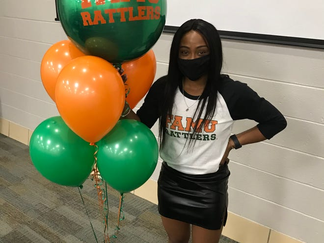 Kiauan Watson celebrates signing with FAMU softball at West Florida High School. Watson is a four-year starter for the Jaguars and has constantly strived to meet a vast list of goals, including inking a D1 scholarship.