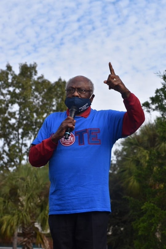 South Carolina Rep. James Clyburn, the House majority whip, addressed a crowd Nov. 1, 2020 at a rally in Hollywood, South Carolina.
