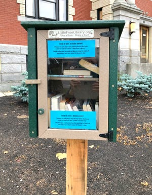 The Rochester Public Library now has a Little Free Library out front.