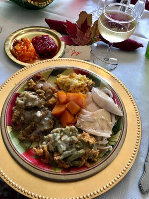 Thanksgiving dinner at the home of Jay Redfern's aunt in Rushville.
