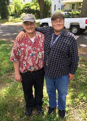 Alan Dalton, left, along with his brother Tony Stephens, right. Dalton, a resident of Brother James Court, was rushed to the hospital with breathing problems and a sore throat and then tested positive for COVID-19 and later passed away from the virus. According to Sangamon County spokesman Jeff Wilhite, three residents of Brother James Court, including Dalton, have died from COVID-19. The virus has infected 74 residents and 16 employees, though none since Oct. 14.  [Photo provided by Stephen Parfitt]