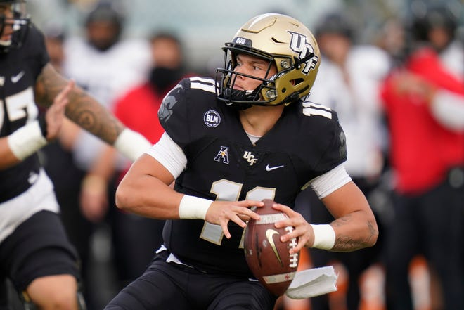 Dillon Gabriel and UCF will play in the 2020 RoofClaim.com Boca Raton Bowl this year.