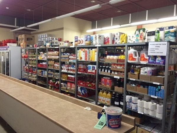 Donated items will be distributed primarily through the Exeter food pantry of Saint Vincent de Paul Community Assistance Center.