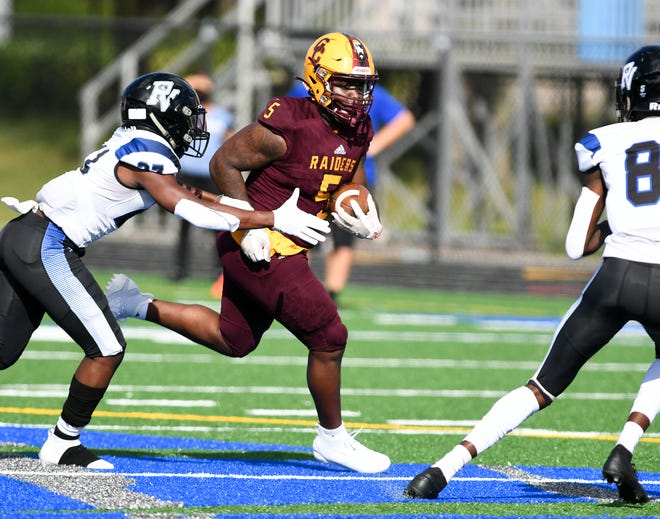 Glades Central's Jaheim Humphries is part of a trio of Raiders running backs that will need to produce if they hope to beat Booker T. Washington on Friday in the tri-county playoffs.
