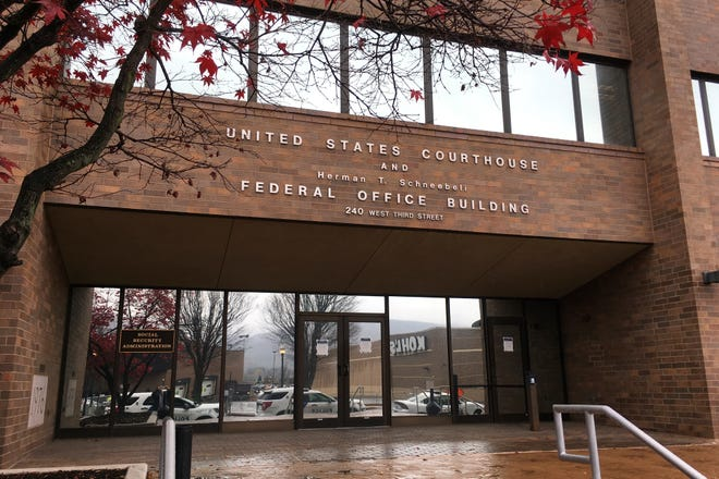 The United States Courthouse in Williamsport, Pa. A judge on Saturday dismissed the Trump campaign's federal lawsuit seeking to prevent Pennsylvania officials from certifying the vote results in the November election. (AP Photo/Mark Scolforo)