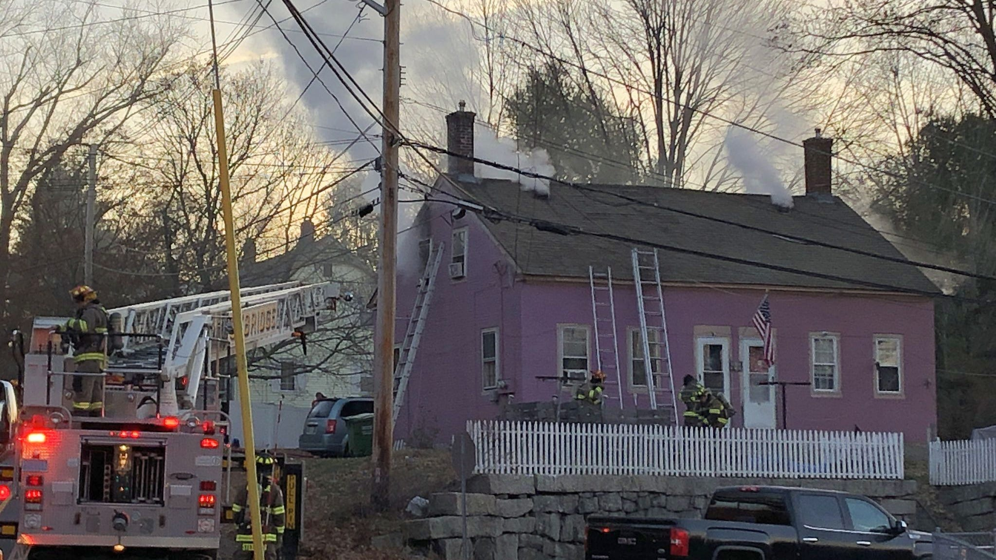 Seven People Pets Displaced By Early Morning House Fire In Uxbridge