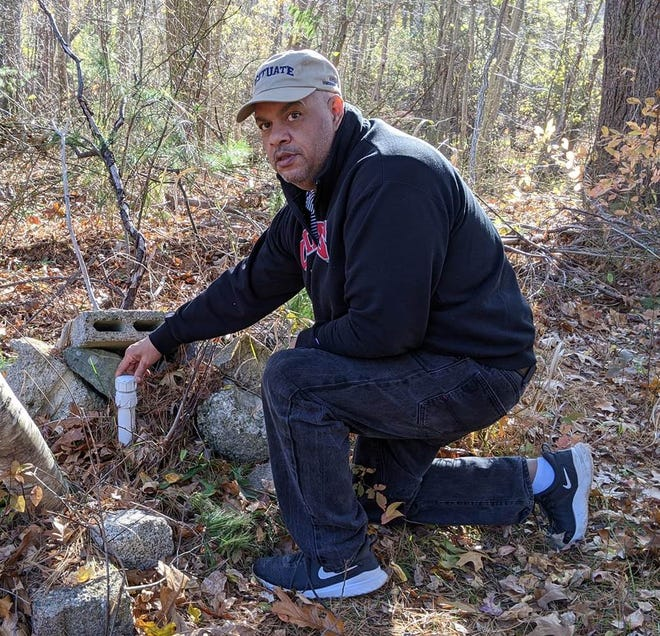 Craig Dias, whose property abuts the former Stockbridge landfill, discovered a test well on his property that he did not authorize or know anything about.