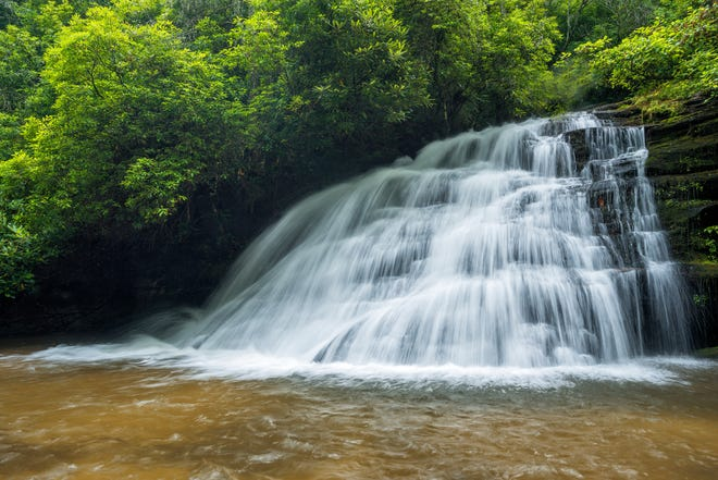 Waterfall Keepers of North Carolina has adopted Graveley Falls in Headwaters State Forest, in Transylvania County, for cleanup.