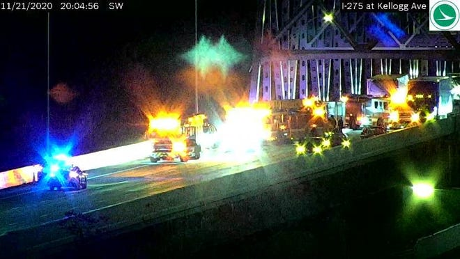 Eastbound lanes of I-275 are closed due to a crash, officials said.