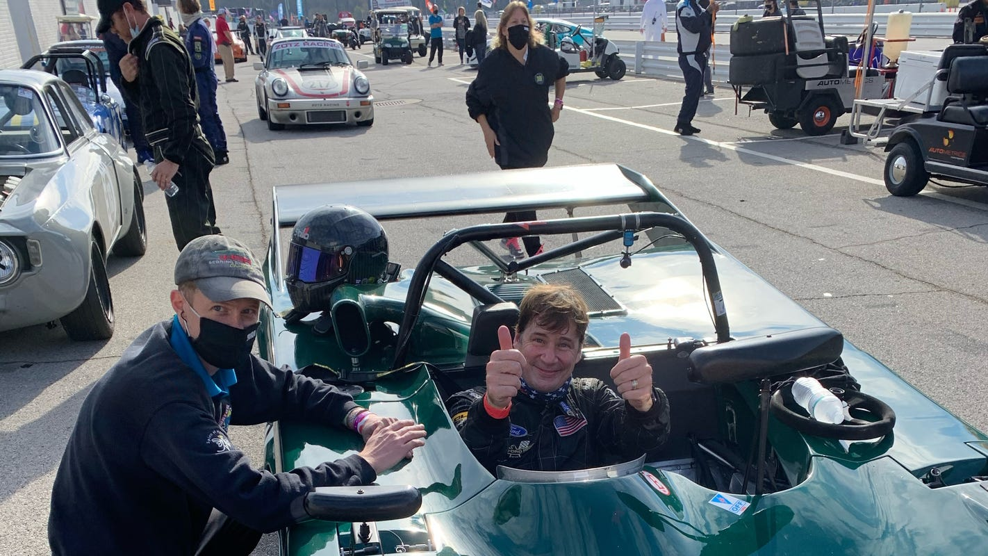 Ford CEO Jim Farley chases passion, drives 106 mph in his 1978 Lola to win race
