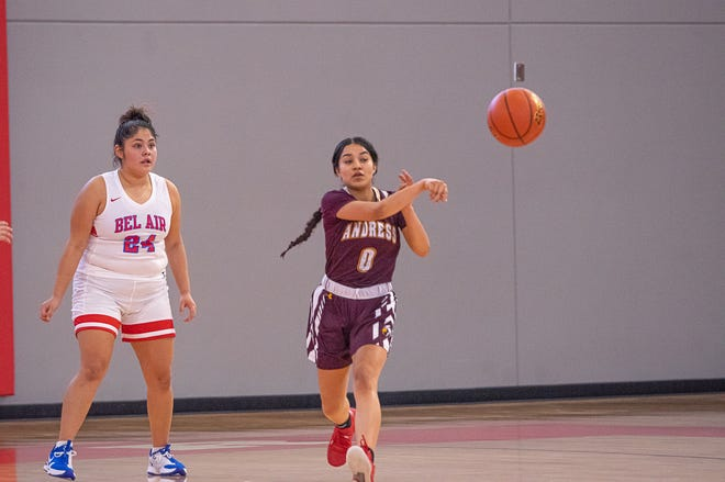 The Andress High School varsity girls basketball team defeated Bel Air High School 65-48 to improve to 3-0 on the season. Bel Air is now 0-3. Bel Air High School hosted Andress High School at home on Nov. 21, 2020.