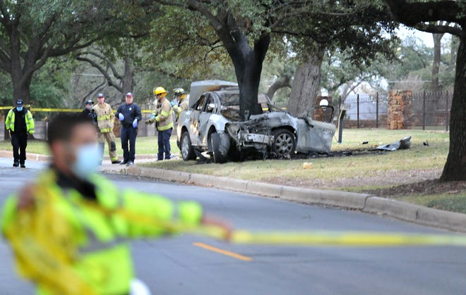 Wichita Falls police worked the scene of a fatal accident Sunday morning in the 2000 Hampstead Lane.
