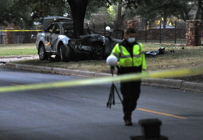 Wichita Falls police worked the scene of a fatal accident Sunday morning on Hampstead Lane.