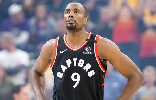 Serge Ibaka played three-plus seasons with the Raptors.