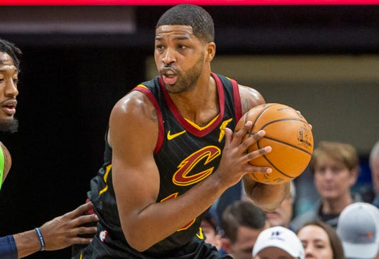 Tristan Thompson averaged 9.4 points and 8.7 rebounds in nine seasons with the Cavaliers.