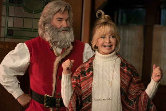 "Santa Claus (Kurt Russell) and Mrs. Claus (Goldie Hawn) team up with some youngsters to save Christmas in the Netflix sequel ""The Christmas Chronicles: Part Two."""