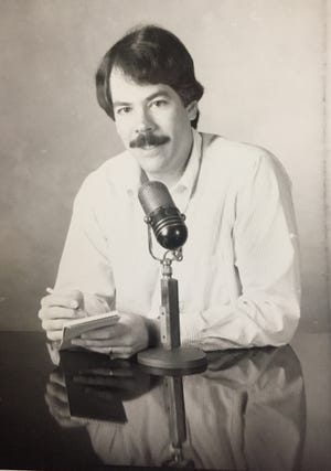This photo was for a promotional advertisement during the late 1980s, when Bob Dyer was writing a column about radio.