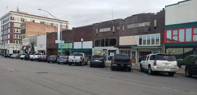 The parking spaces are full in front of Main Street businesses. This weekend's Small Business Saturday encourages everyone to support small, locally owned business.