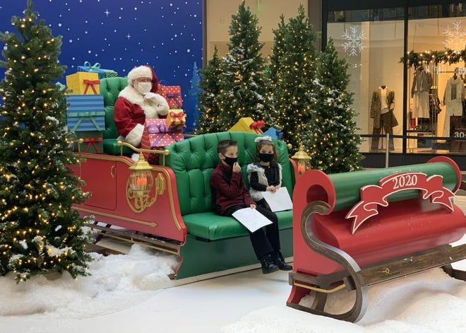 Santa visits will look like this at shopping malls in 2020. [Courtesy of The Mall at Robinson]