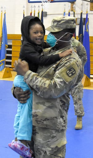 There were plenty of smiling faces as 16 Fort Polk soldiers returned home on Saturday.