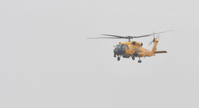 Crews from Coast Guard Air Station Cape Cod are searching for four fishermen reported missing from the vessel Emmy Rose off Provincetown early Monday.