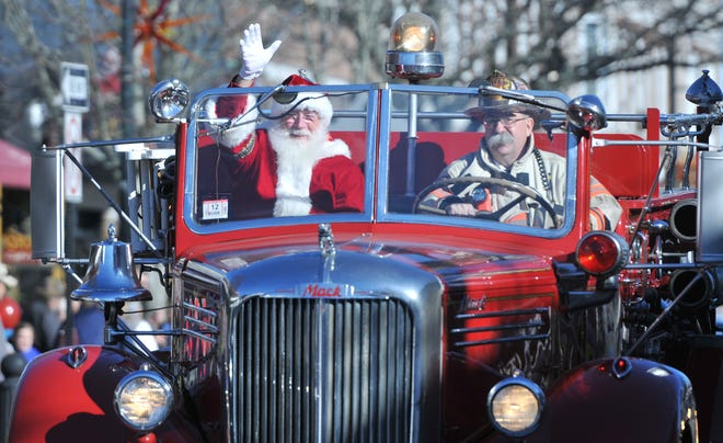 Santa will again ride in style along Main Street  in Hyannis at noon Saturday as part of a modified holiday stroll.