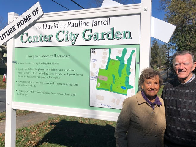 Former Mayor David Jarrell and his wife Pauline are the namesakes for the future Center City Garden near downtown Asheboro.