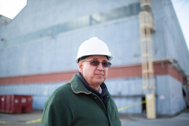 Plant Manager Paul Wayne poses at a former Union Carbide graphite manufacturing facility in Columbia on Tuesday, Nov. 13, 2019. The plant, which has stood dormant for three years, was recently acquired by Mersen, an international manufacturer that promises to bring 100 jobs to the shuttered plant.