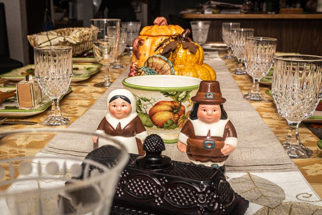 A traditional Thanksgiving table setting, something that will be greatly downsized this year.