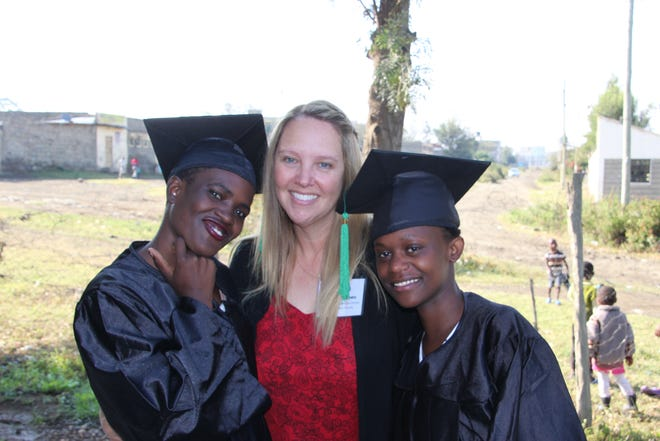 In 2019, Joey Lynn Jachec, a Stetson University graduate student, visited Kenya in support of the Inua Partners in Hope program, assisting orphans whose parents have died from the AIDS epidemic. Jachec graduated earlier this year, but remains involved in the Inua program.