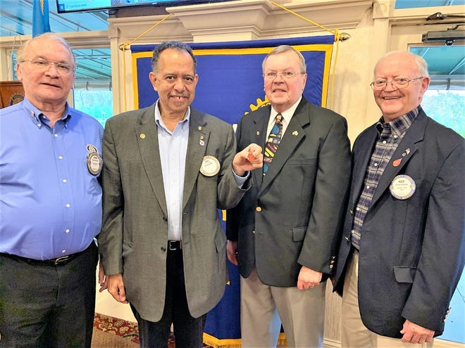A dozen Dover Capital City Rotary Club members were recently recognized for their contributions to Rotary International's Polio Plus Program at the club's Nov. 12 luncheon meeting at Maple Dale Country Club. Pictured, from left: Polio Plus contributors and program directors John Kotzun, Eric Cheek, Ed Wilchinski and Rich Harper.