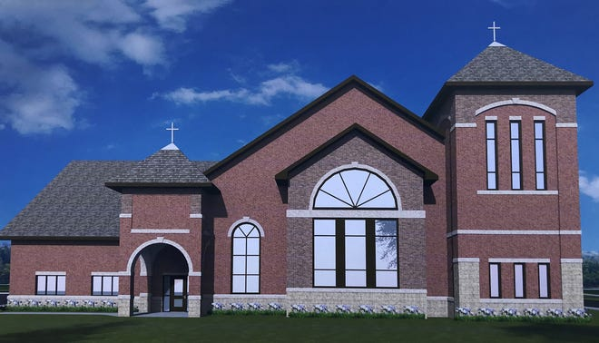 This is a rendering of the new First Presbyterian Church of Girard.