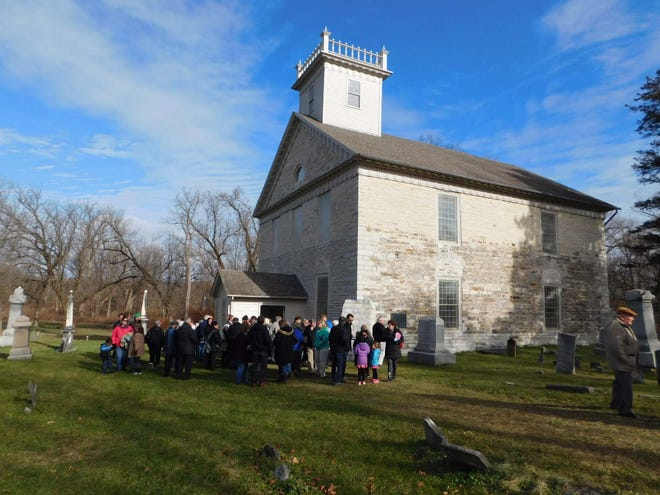 Worshipers gather outside the Fort Herkimer Church following a Thanksgiving Day service. Things will look different this year with both participants and in-person attendance limited due to the coronavirus pandemic.