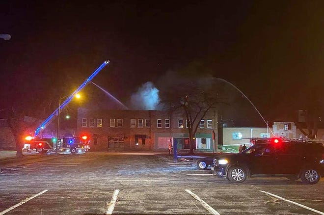 The Galesburg Fire Department responds to a structure fire Sunday at 179 N. Cherry St., at the corner of Cherry and Waters streets, according to a press release from the City of Galesburg.